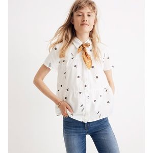 Madewell Tiered button down in el rancho